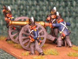 15mm, Napoleonic British Royal Artillery AB 4 figures + Gun